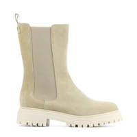 Red Rag 71128  hoge suède chelsea boots beige, Beige