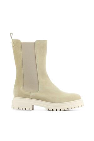 71128  hoge suède chelsea boots beige