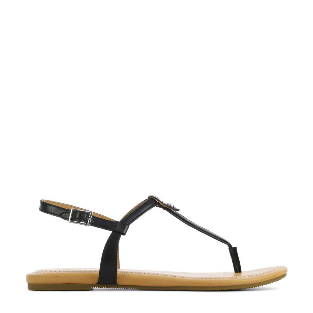 UGG Madeena 1117959 leren sandalen zwart, Zwart