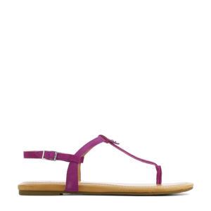 Madeena 1117959 suède sandalen paars