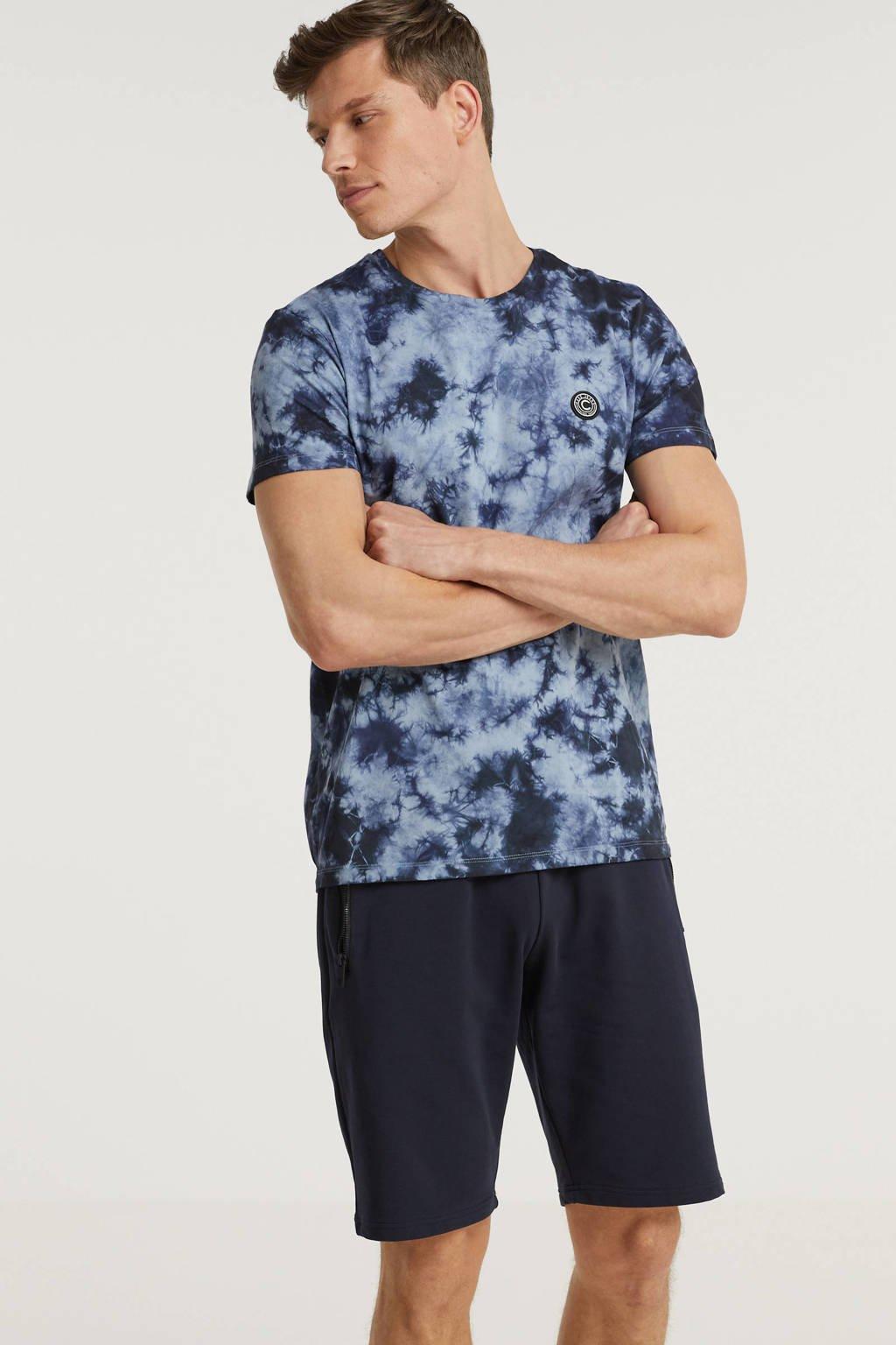 Cars T-shirt Tony met all over print blauw, Blauw