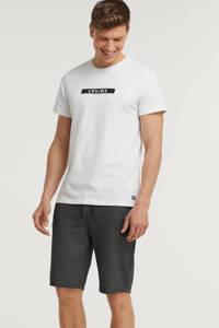 Cars T-shirt Simon van biologisch katoen wit, Wit