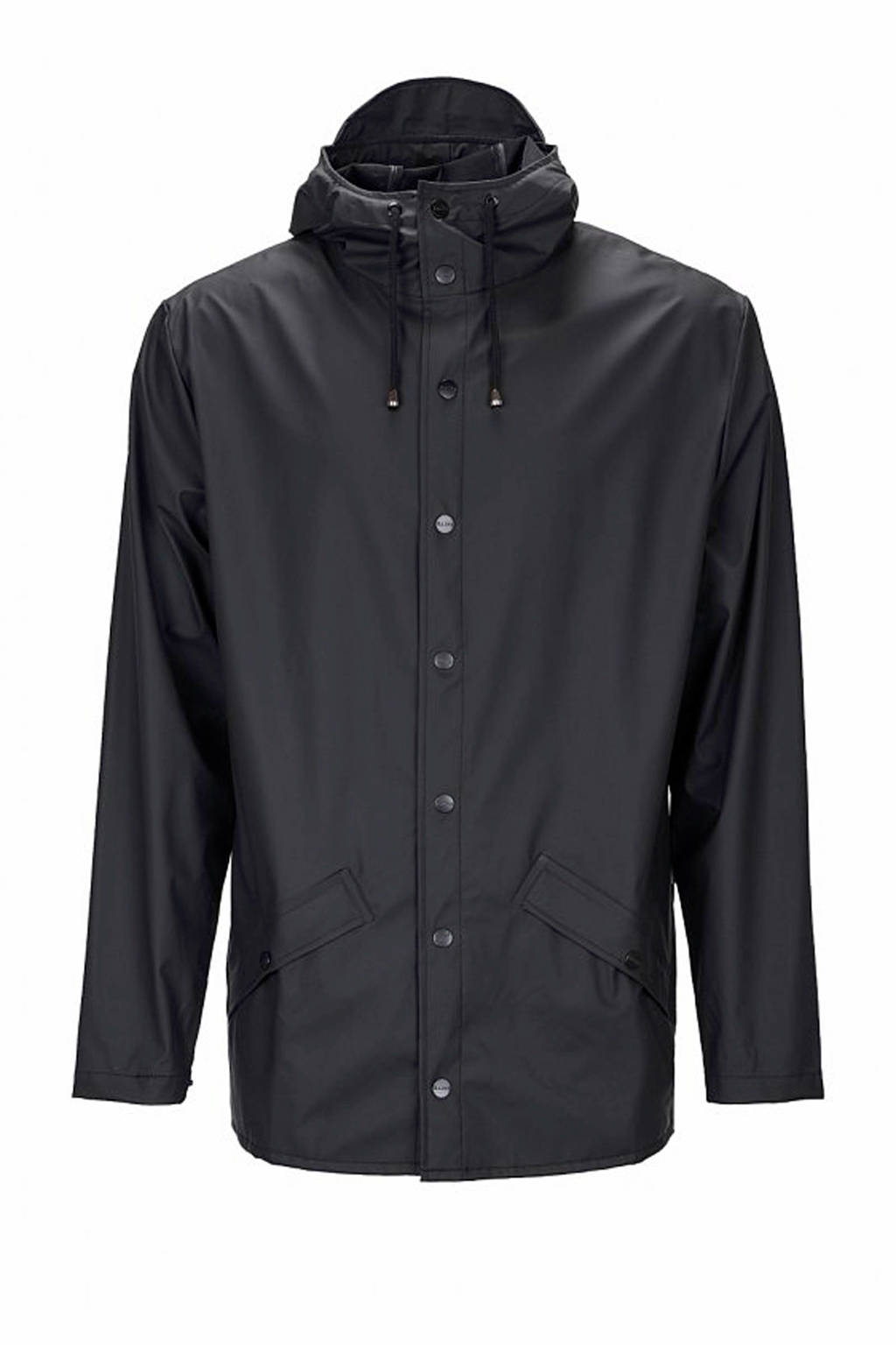 Rains 1201 Jacket regenjas zwart, Zwart