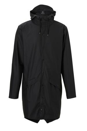 1202 Long Jacket regenjas zwart