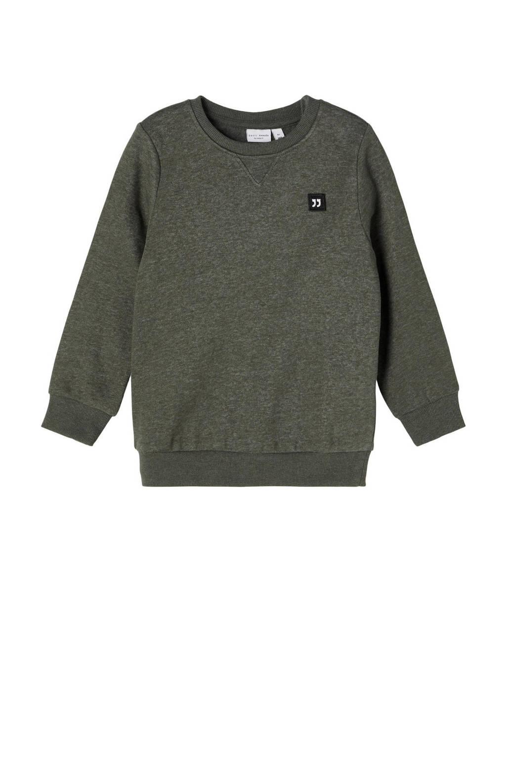 NAME IT MINI gemêleerde sweater NMMVIMO groen, Groen