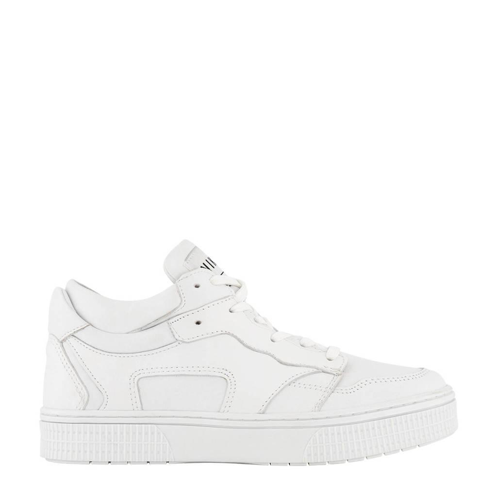 NIKKIE Blythe  leren sneakers wit, Wit