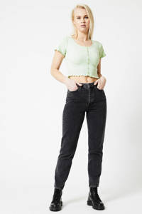 America Today cropped T-shirt lichtblauw, Light Green