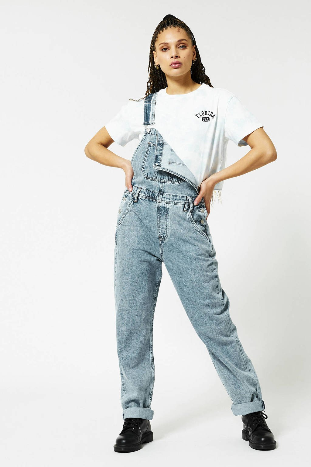 America Today straight fit broek used blue, Used Blue