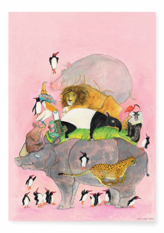 KEK Amsterdam poster Marije Tolman   (59,4x42 cm), Multi