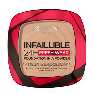 L'Oréal Paris - Infaillible 24H Fresh Wear Foundation in a Powder - 120 Vanille - Foundation en poeder in één - 8gr