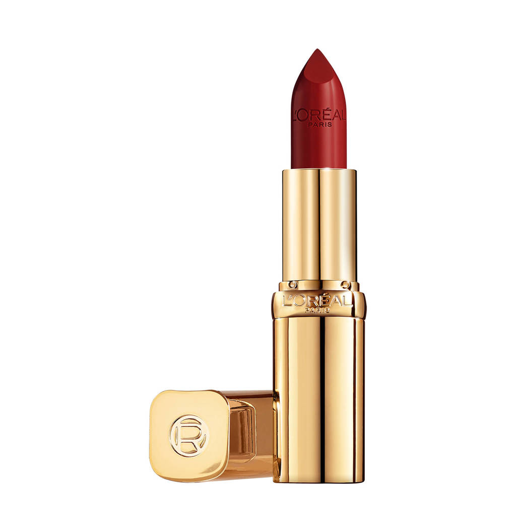 L'Oréal Paris L'Oréal Paris - Color Riche Satin Lipstick - 124 S'il Vous Plait - Rood - Verzorgende, lippenstift verrijkt met Arganolie - 4,54 gr, 124 S Il Vous Plait