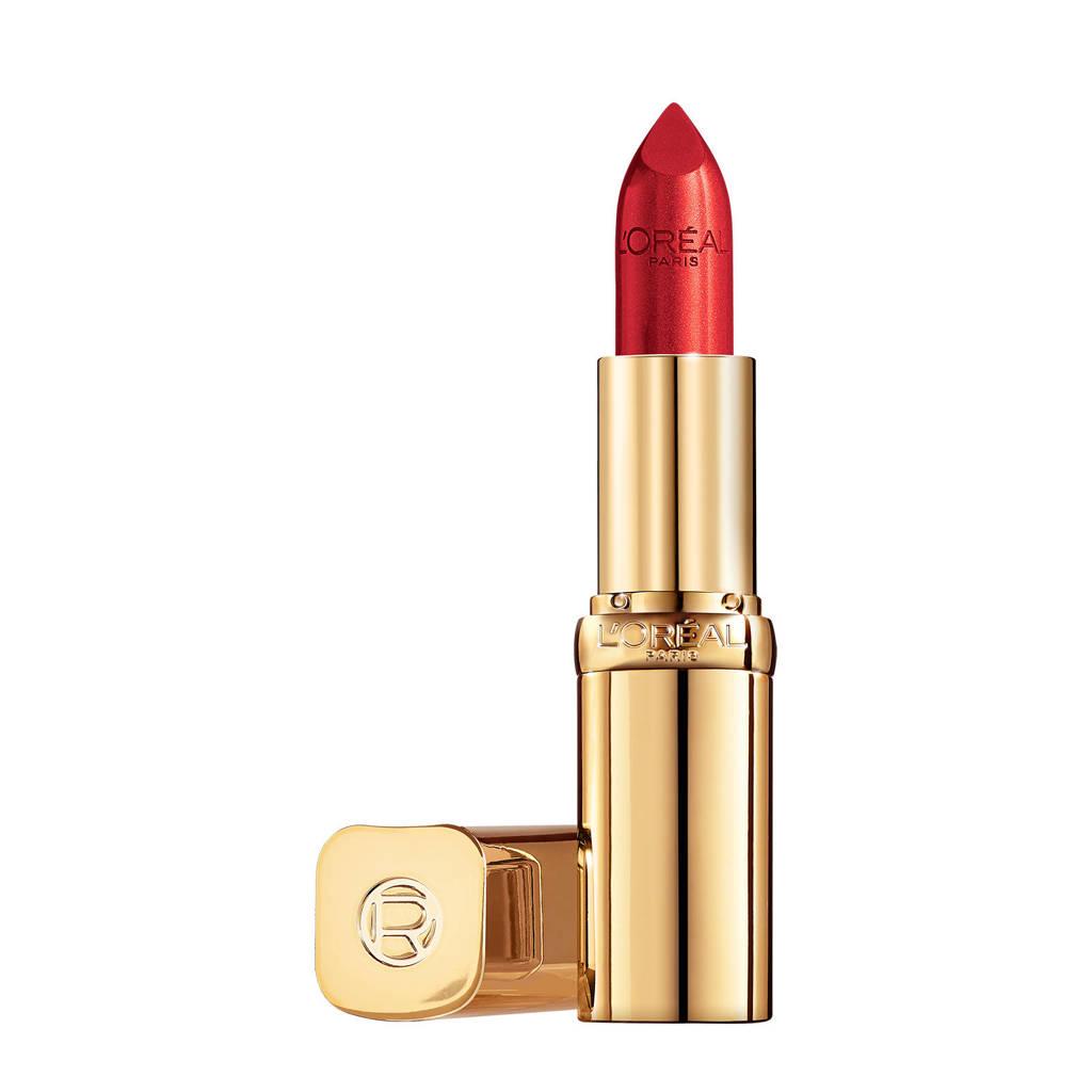 L'Oréal Paris L'Oréal Paris - Color Riche Satin Lipstick - 152 a La Mode - Rood - Verzorgende, Lippenstift verrijkt met Arganolie - 4,54 gr, 152 A La Mode