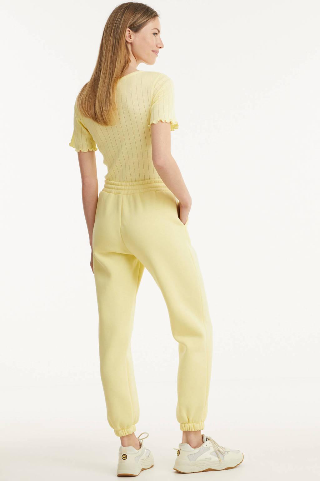 SisterS Point straight fit broek geel, Geel