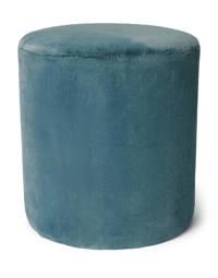 Essenza poef Furry, Denim blue