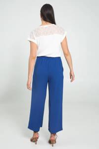 Cassis loose fit broek blauw, Blauw
