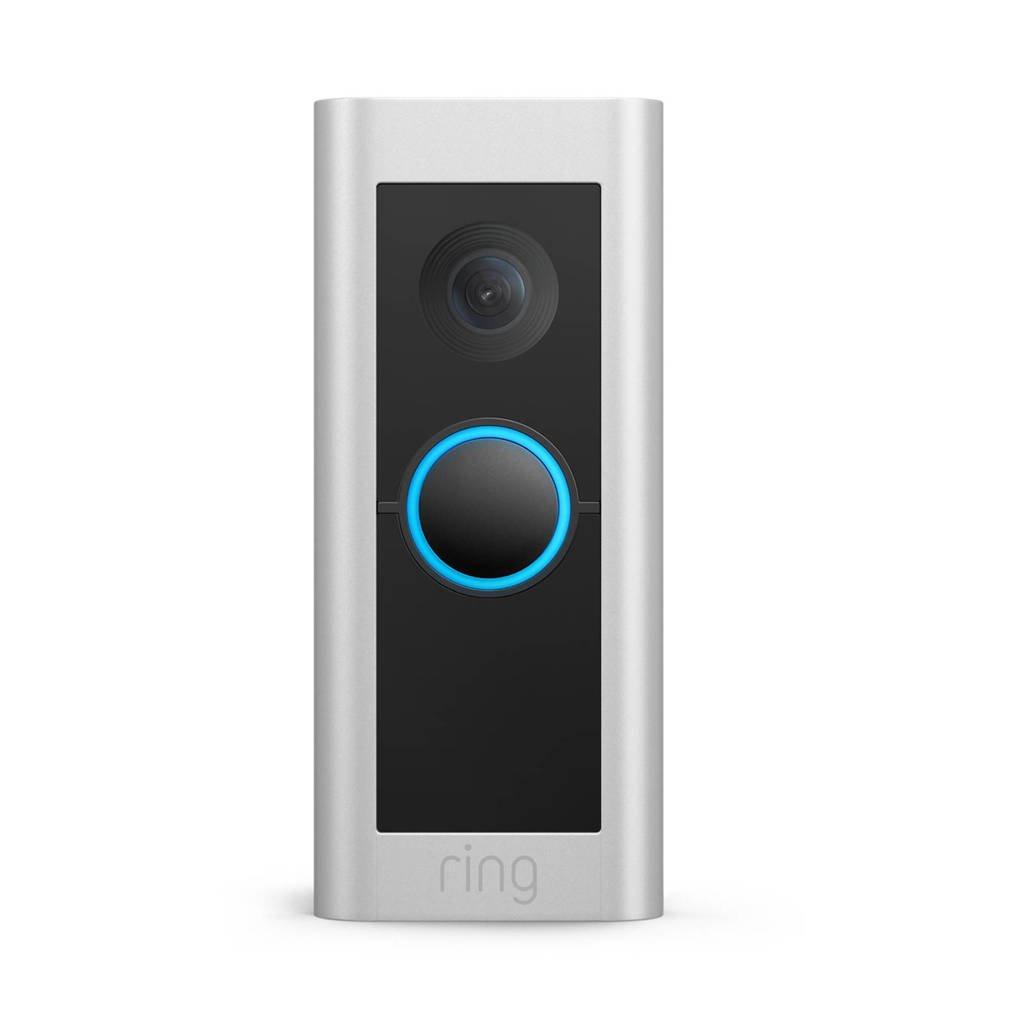 Ring videodeurbel Pro 2 (Vaste bedrading), Zwart, zilver
