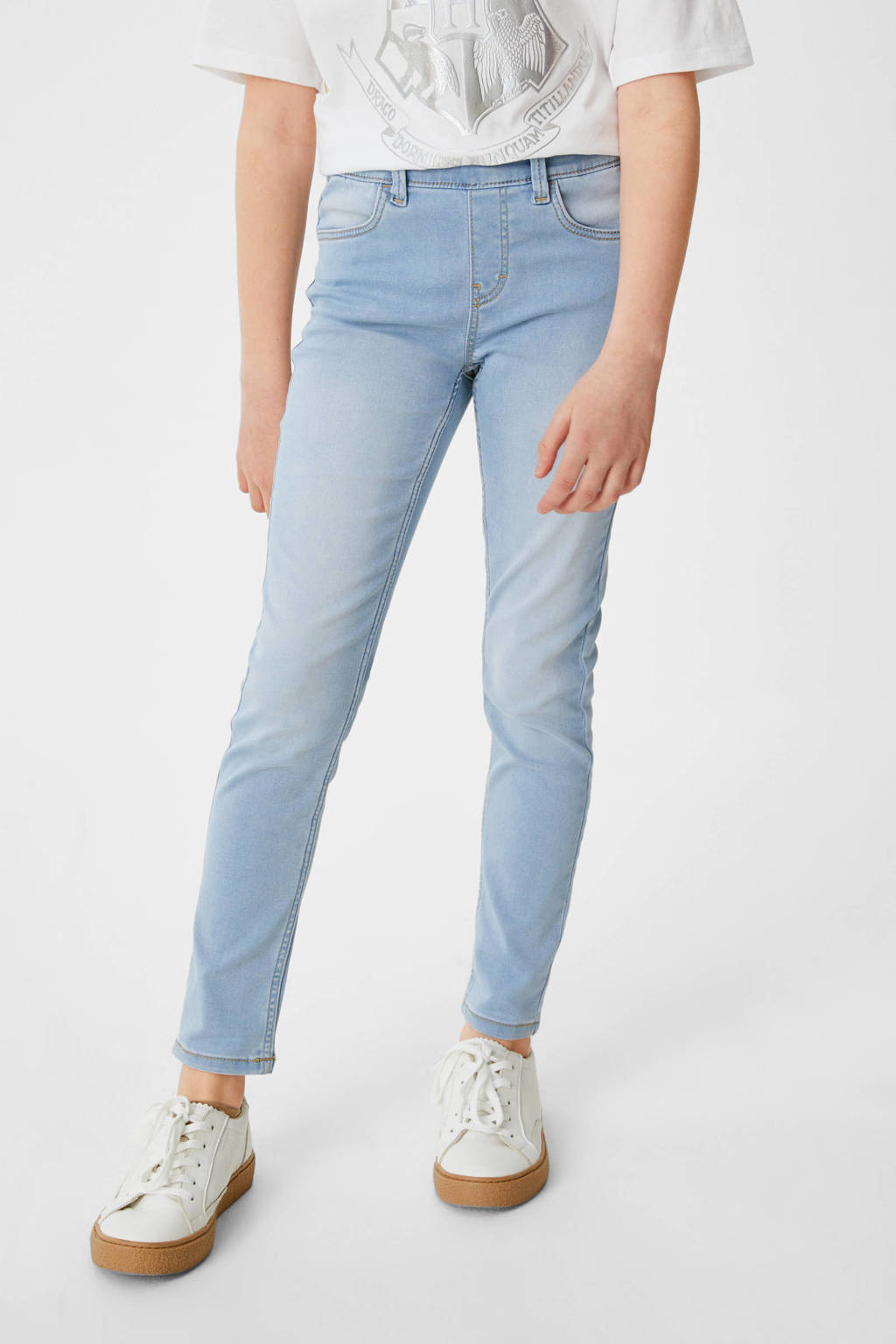 C&A Here & There super skinny jeans lichtblauw, Lichtblauw