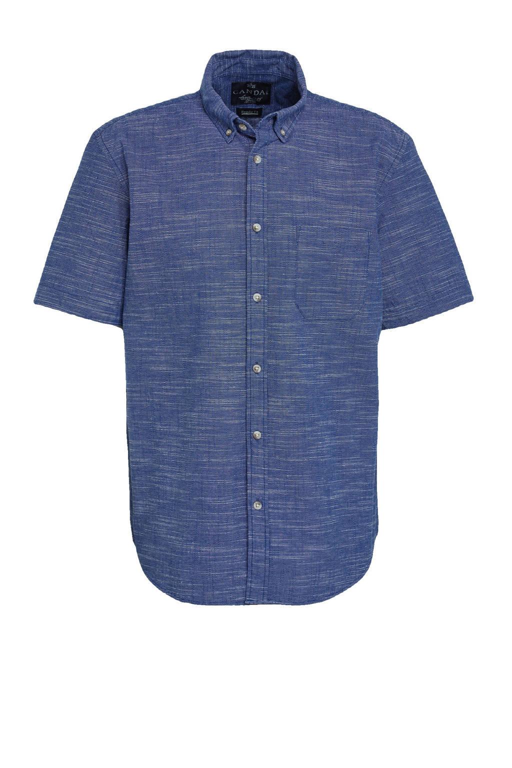 C&A Canda regular fit overhemd blauw, Donkerblauw