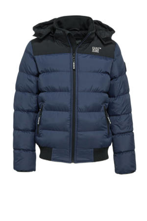 gewatteerde winterjas Froom donkerblauw