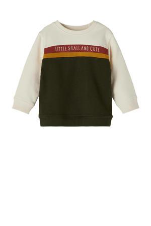 baby sweater NBMNILS bruin/ecru