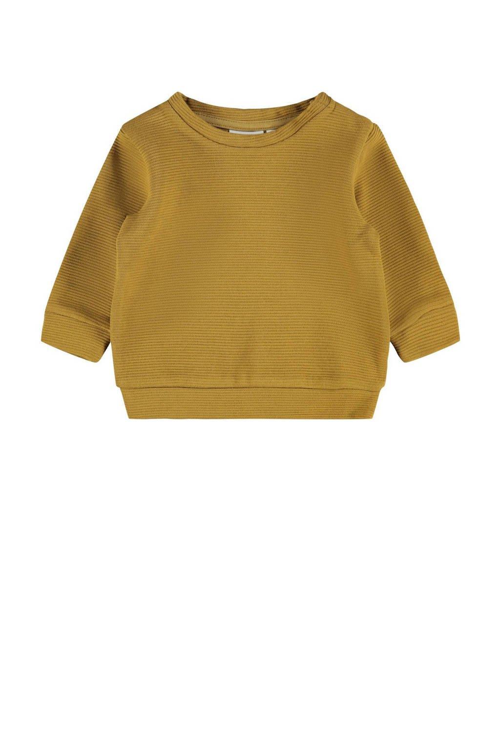 NAME IT BABY baby sweater NBMNORMAN okergeel, Okergeel