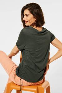 CECIL T-shirt Gathering T-Shirt groen, Groen
