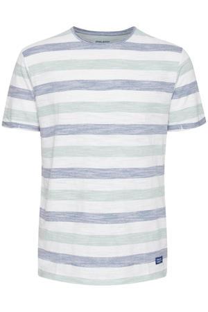 gestreept T-shirt Plus Size blauw/wit