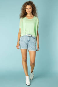 Yest jeans short Kalisha lichtblauw, Lichtblauw