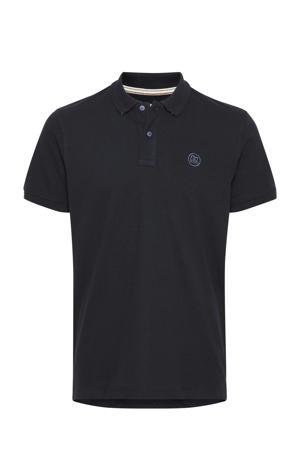 regular fit polo Plus Size met logo donkerblauw