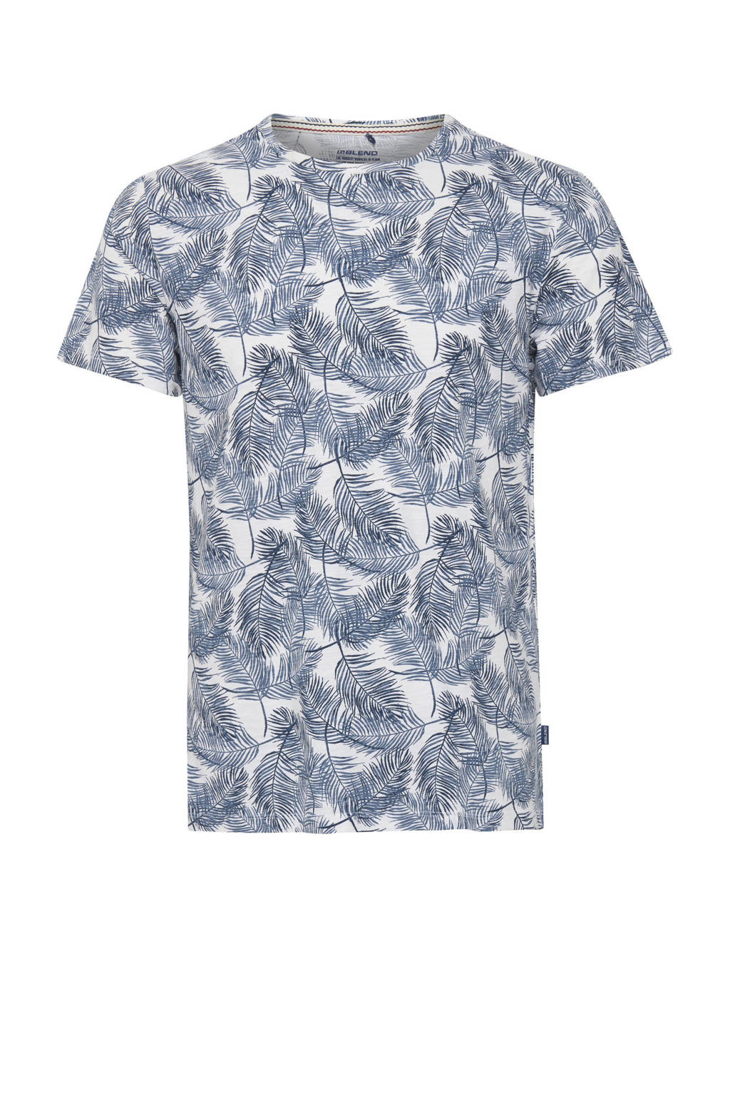 Blend Big T-shirt Plus Size met all over print blauw, Blauw