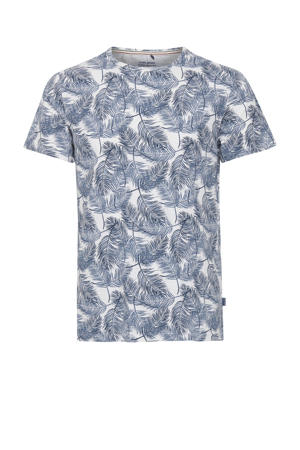 T-shirt Plus Size met all over print blauw
