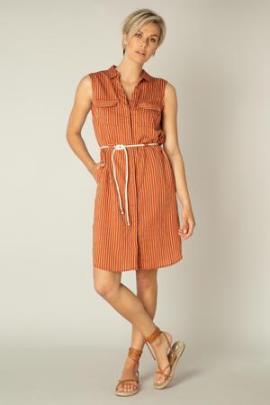 gestreepte jurk Kayna terra