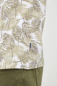 Blend Big T-shirt Plus Size met all over print beige, Beige