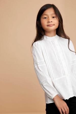 blouse NKFNARIDE met borduursels wit