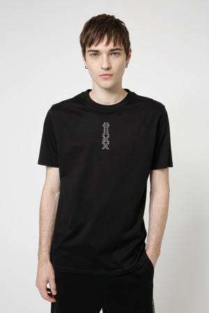 T-shirt Durned213 van biologisch katoen zwart