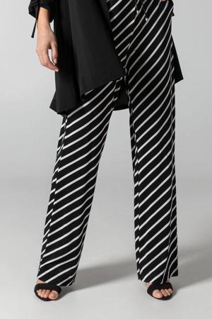 gestreepte flared broek zwart/wit