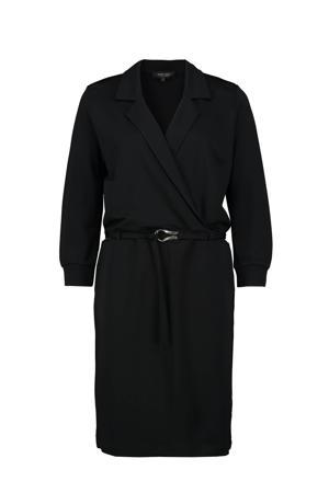 jurk met ceintuur zwart