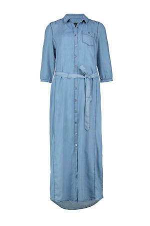 maxi blousejurk Camilla lichtblauw