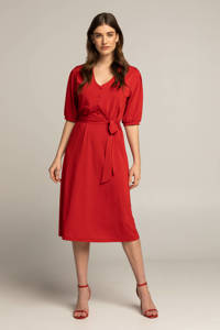 Expresso jurk Caitlyn rood, Rood