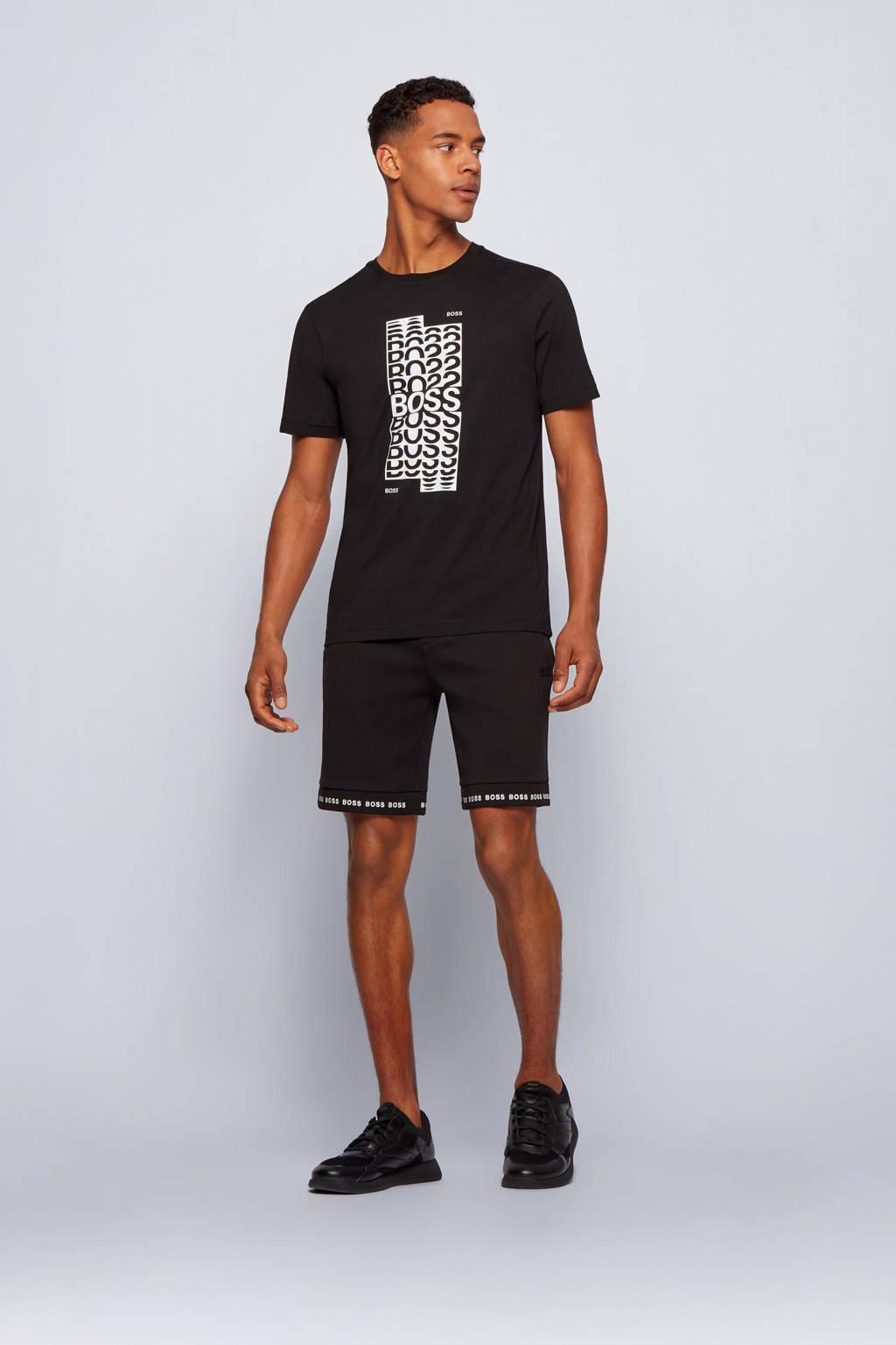 BOSS Athleisure T-shirt Tee met logo zwart, Zwart
