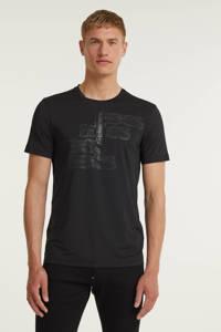 BOSS Athleisure T-shirt met logo zwart, Zwart