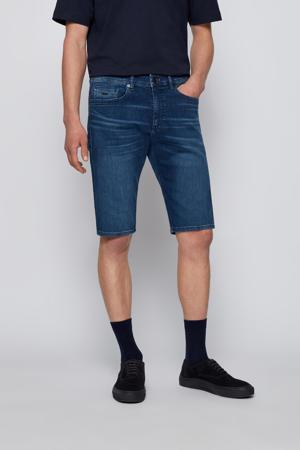 tapered fit jeans short Taber dark denim