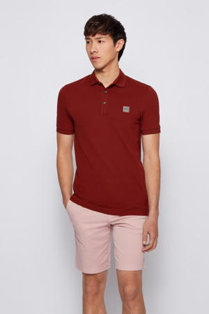 slim fit polo donkerrood