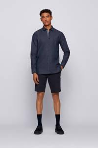 BOSS Casual gemêleerd slim fit overhemd Magneton donkerblauw, Donkerblauw