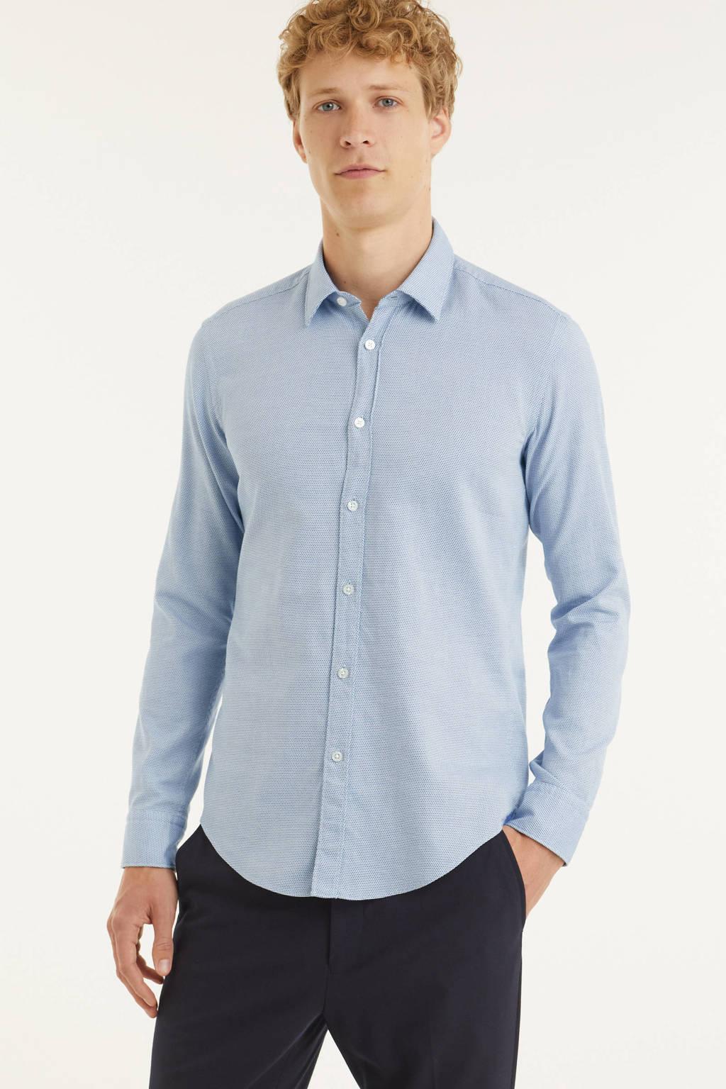 BOSS Menswear slim fit overhemd Ronni_53 lichtblauw, Lichtblauw