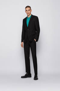 BOSS Menswear regular fit polo Parlay met contrastbies turquoise, Turquoise