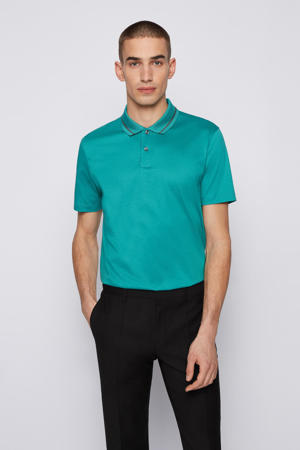 regular fit polo Parlay met contrastbies turquoise