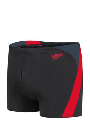 Endurance10 zwemboxer Splice zwart/rood