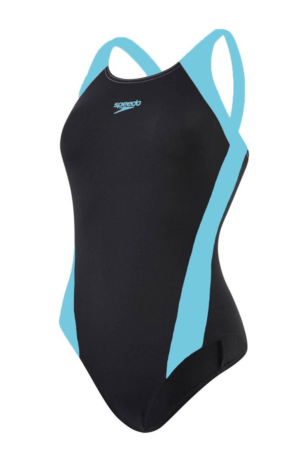Speedo Endurance+ sportbadpak Splice zwart/turquoise, Zwart/turquoise