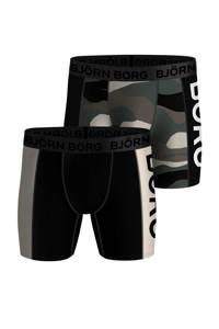 Björn Borg boxershort (set van 2), Zwart/groen/ecru/army